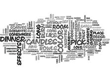 A Night Of Special Effects Word Cloud Stock Images
