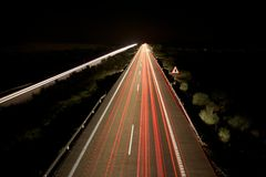Night speed highway Stock Photography