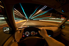 Night Speeding Royalty Free Stock Photography