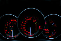 NIGHT SPEEDOMETER Royalty Free Stock Photos
