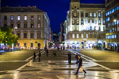 Night square Royalty Free Stock Image