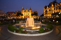 Night Square in   Monte Carlo  Monaco Royalty Free Stock Photography