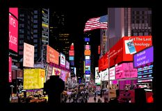 night square times διανυσματική απεικόνιση