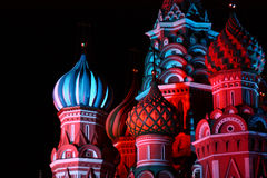 Night St. Basil Cathedral Stock Images