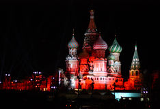 Night St. Basil Cathedral Stock Image