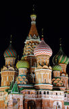 Night St. Basil Cathedral Stock Photo