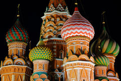 Night St. Basil Cathedral Royalty Free Stock Photos