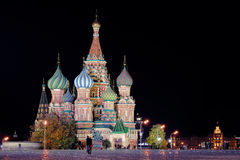 Night St. Basil Cathedral Royalty Free Stock Images