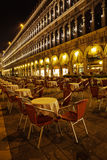 At night on the St. Mark's square in Venice Stock Photos