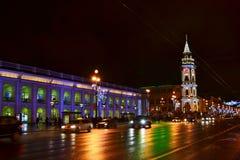 Night of St. Petersburg royalty free stock image