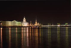 Night St Petersburg Stock Image