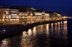 Night St. Petersburg Stock Images