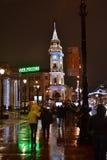 Night of St. Petersburg, Nevsky Prospect. Royalty Free Stock Image