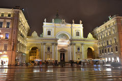Night of St. Petersburg, Nevsky Prospect. Stock Photography