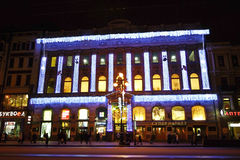 Night of St. Petersburg, Nevsky Prospekt royalty free stock images