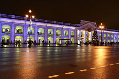 Night of St. Petersburg, Nevsky Prospekt Royalty Free Stock Images