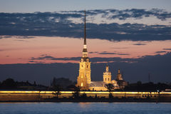 Night St. Petersburg. Peter-Pavels Fortress Stock Images