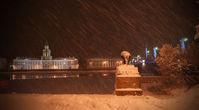 Night St. Petersburg, Russia Royalty Free Stock Images