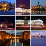 Night St. Petersburg, Russia Stock Image