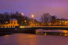 Night St. Petersburg ,Russia Stock Image