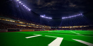 Night stadium arena Football field Royalty Free Stock Photography