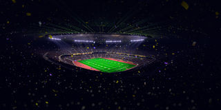 Night stadium arena Football field championship win.blue toning Stock Images