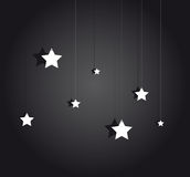 Night stage with hanging stars Royalty Free Stock Photography