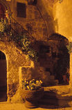 Night stair. A little romatic stair in italy Stock Photos