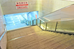 Night staircase stock photo