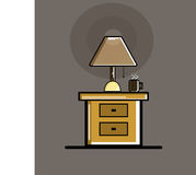 Night stand. A simple night stand design stock illustration
