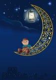 Night of a star stock illustration
