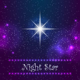 Night star on the sky Royalty Free Stock Images