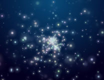 The night star sky. Space open Stock Image