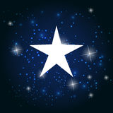 Night Star Sky Vector Illustration Background. Royalty Free Stock Photo