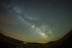 Night  Star trail Panaroma in Kars Sarıkamış martyrdom Royalty Free Stock Photography