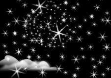 night starry Στοκ Φωτογραφία