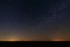 Night starry sky for background. Royalty Free Stock Photo