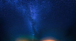 Night Starry Sky. Natural Night Sky Background. View Of Glowing Stars Stock Photo