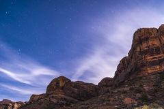 Night Starry Sky near Porcupine ridge Trail Moab Utah royalty free stock photo