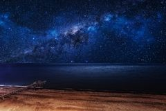 Milky Way over the sea. Royalty Free Stock Photo