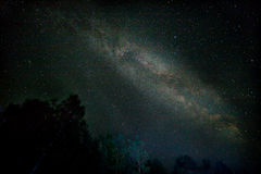 Night starry sky scene. With milky way royalty free stock photography
