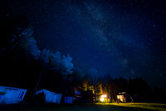 Night starry sky scene Stock Photo