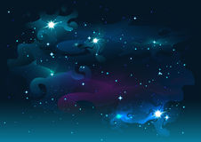 Night starry sky. Stars and space. Dark abstract background Stock Photos