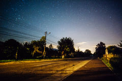 Night starry sky Stock Photos