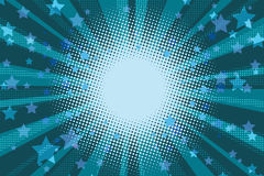 Night stars holiday blue pop art background Stock Image