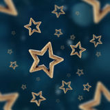 Night stars seamless pattern Stock Image