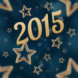 2015 on the night stars seamless pattern. On the blue background Stock Image