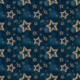 Night stars seamless pattern 2 Stock Photography