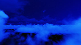 Night stars in sky and cloud Royalty Free Stock Images