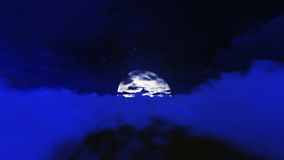 Night stars in sky and cloud with moon Royalty Free Stock Photography